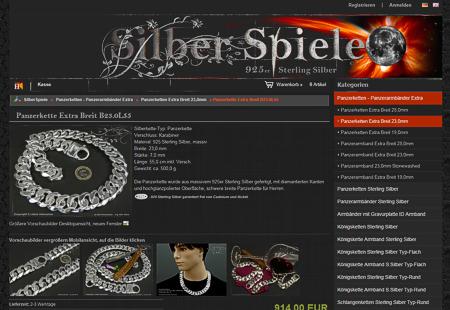 Panzerketten :: Königsketten :: Armbänder  für Damen und Herren 925 Sterling Silber.