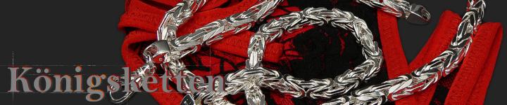 Königsketten - Sterling Silber  massiv 925 Sterling Silber