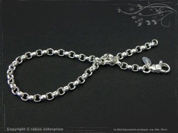Silberkette Erbsenkette Armband B4.0L17 massiv 925 Sterling Silber