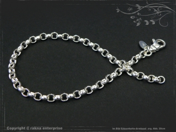 Silberkette Erbsenkette Armband B4.0L20 massiv 925 Sterling Silber