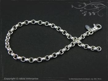 Silberkette Erbsenkette Armband B4.0L25 massiv 925 Sterling Silber
