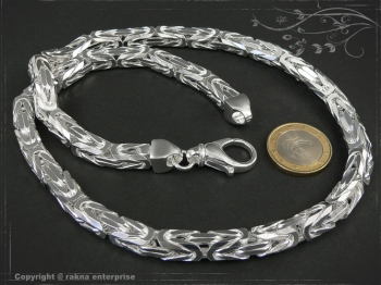 Byzantine chain B8.0L80 solid 925 Sterling Silver