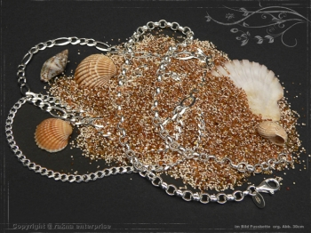 Anklet Silver Chain Spring L24