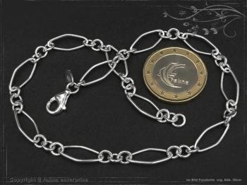 Fußkette Silberkette Spring L25 massiv 925 Sterling Silber