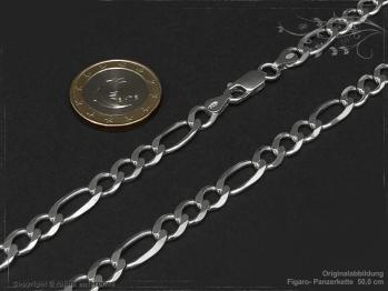 Figarokette  B6.5L45 massiv 925 Sterling Silber