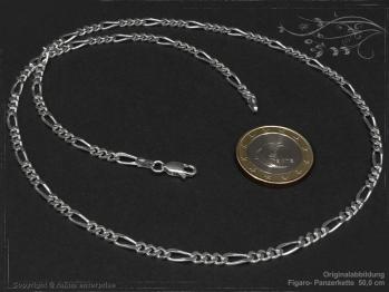 Figarokette  B3.4L40 massiv 925 Sterling Silber