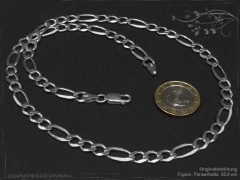 Figarokette  B6.5L80 massiv 925 Sterling Silber