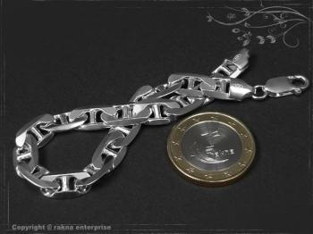 Steg Panzerkette Armband B7.5L17 massiv 925 Sterling Silber