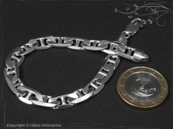 Steg Panzerkette Armband B7.5L21 massiv 925 Sterling Silber