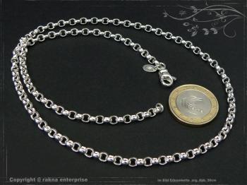 Silberkette Erbsenkette B4.0L60 massiv 925 Sterling Silber