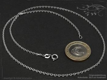 Ankerkette B1.9L60 rhodiniert massiv 925 Sterling Silber