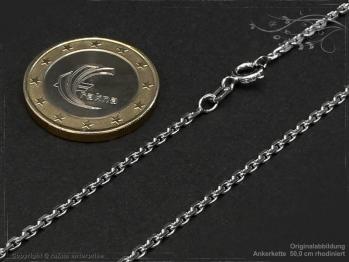 Ankerkette B1.9L50 rhodiniert massiv 925 Sterling Silber