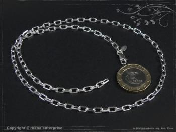 Ankerkette B3.8L100 massiv 925 Sterling Silber