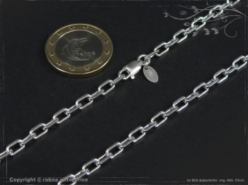 Ankerkette B3.8L75 massiv 925 Sterling Silber