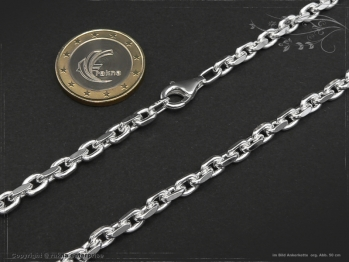 Ankerkette B4.5L45 massiv 925 Sterling Silber