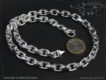 Ankerkette B8.0L40 massiv 925 Sterling Silber