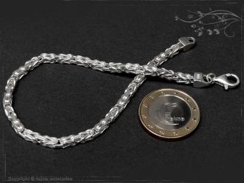 Königskette Armband B3.0L22 massiv 925 Sterling Silber