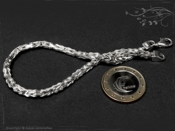 Königskette Armband B3.0L18 massiv 925 Sterling Silber