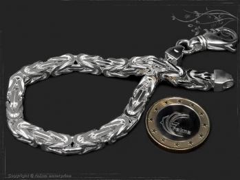 Königskette Armband B6.0L22 massiv 925 Sterling Silber