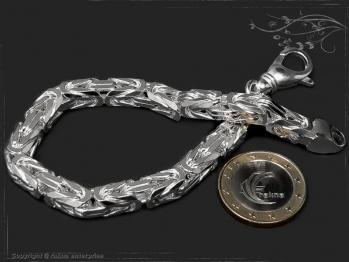 Königskette Armband B7.0L25 massiv 925 Sterling Silber