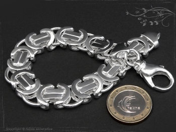 Königskette Armband Flach B14.0L23 massiv 925 Sterling Silber