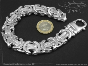 Königskette Armband Flach B17.0L20 massiv 925 Sterling Silber