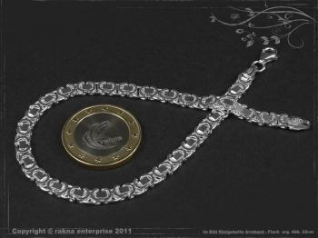 Königskette Armband Flach B4.6L20 massiv 925 Sterling Silber