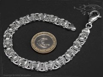 Königskette Armband Flach B9.0L25 massiv 925 Sterling Silber