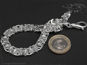 Königskette Armband Flach B9.0L22 massiv 925 Sterling Silber