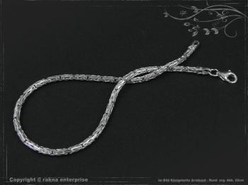 Königskette Armband Rund B2.3L20 massiv 925 Sterling Silber