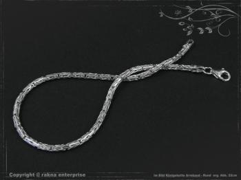 Königskette Armband Rund B2.3L23 massiv 925 Sterling Silber
