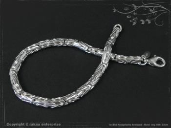 Königskette Armband Rund B4.0L24 cm massiv 925 Sterling Silber
