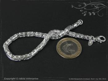 Königskette Armband Rund B4.0L17 cm massiv 925 Sterling Silber