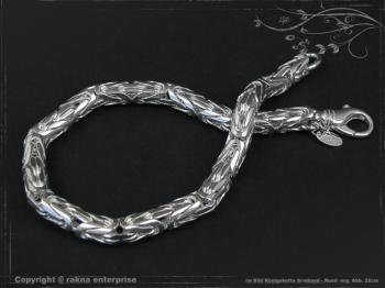 Königskette Armband Rund B6.0L25 cm massiv 925 Sterling Silber