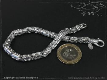 Königskette Armband Rund B6.0L22 cm massiv 925 Sterling Silber