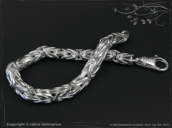 Königskette Armband Rund B8.0L23 cm massiv 925 Sterling Silber