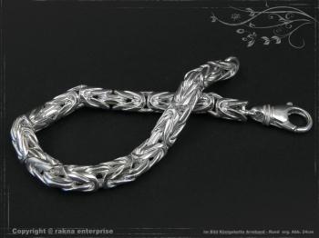Königskette Armband Rund B8.0L25 cm massiv 925 Sterling Silber