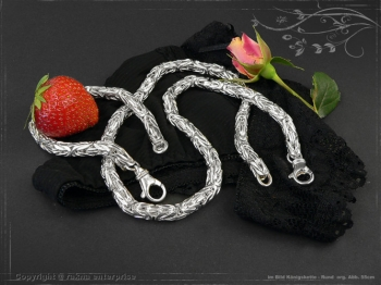 Königskette Armband Rund B8.0L21 cm massiv 925 Sterling Silber