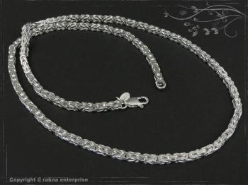 Königskette B3.5L80 massiv 925 Sterling Silber