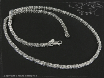 Königskette B3.5L100 massiv 925 Sterling Silber