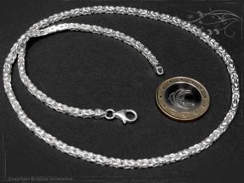 Königskette B3.0L110 massiv 925 Sterling Silber