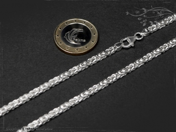 Königskette B3.0L105 massiv 925 Sterling Silber