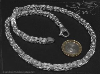 Königskette B6.0L100 massiv 925 Sterling Silber