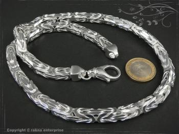 Königskette B8.0L50 massiv 925 Sterling Silber