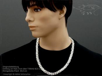 Königskette Flach B11.0L65 massiv 925 Sterling Silber