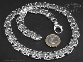Königskette Flach B11.0L70 massiv 925 Sterling Silber