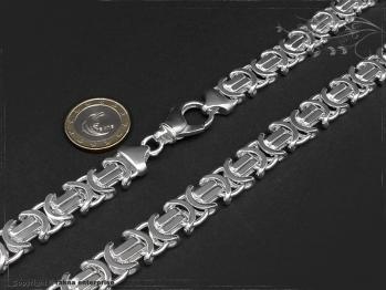 Königskette Flach B11.0L45 massiv 925 Sterling Silber