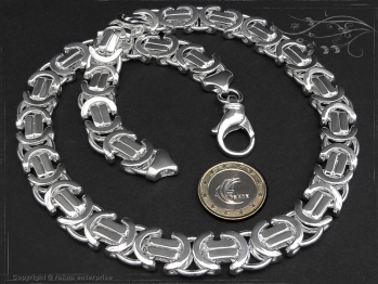 Königskette Flach B14.0L75 massiv 925 Sterling Silber