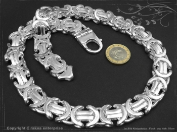 Königskette Flach B17.0L85 massiv 925 Sterling Silber