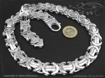 Königskette Flach B17.0L45 massiv 925 Sterling Silber